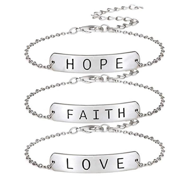 love faith hope bracelet