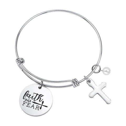 bracelet faith over fear