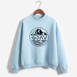 God is Greater Than the Highs and Lows Pullover Blue