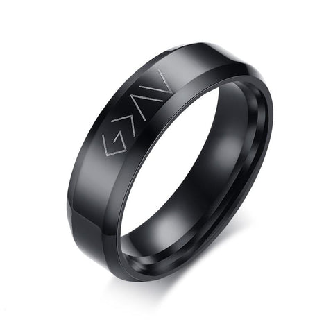 God Is Greater Than The Highs And Lows Ring Black