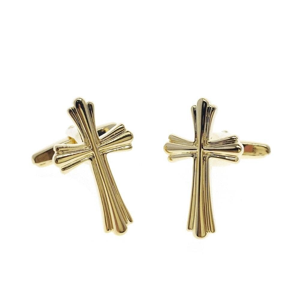 gold-cross-cufflinks