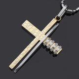 Fashion Cross Necklace gold silver
