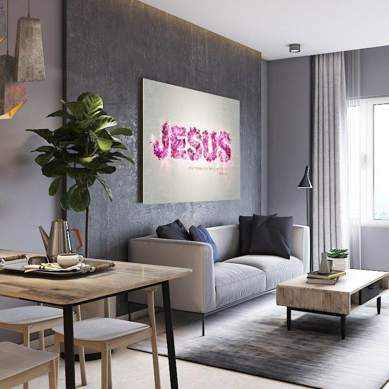 Bible Verse Wall Art<br> I Am The Way The Truth And The Life