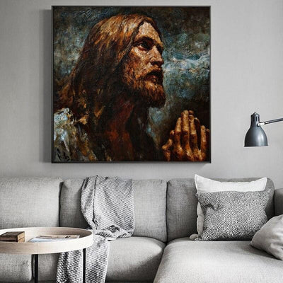 jesus-canva-painting art