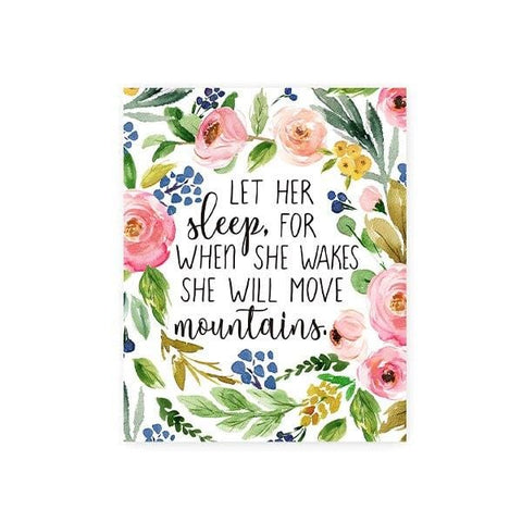 she will move mountains wall art