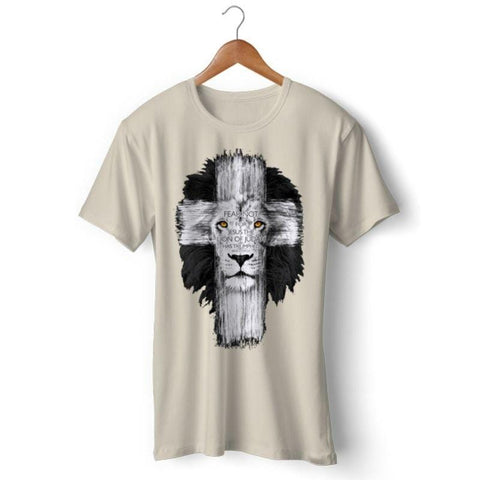 lion-cross-t-shirt-khaki