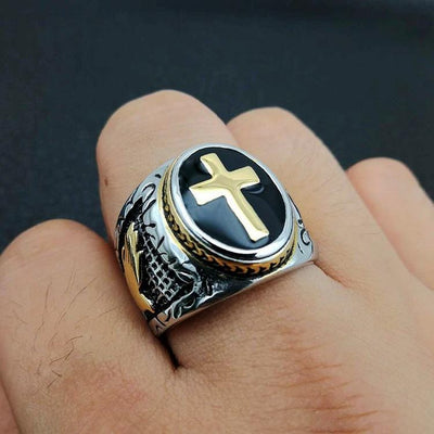 holy cross signet ring Gold