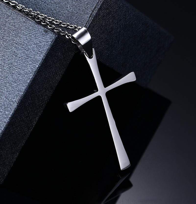 Men's Christian Cross necklace Stainless Steel