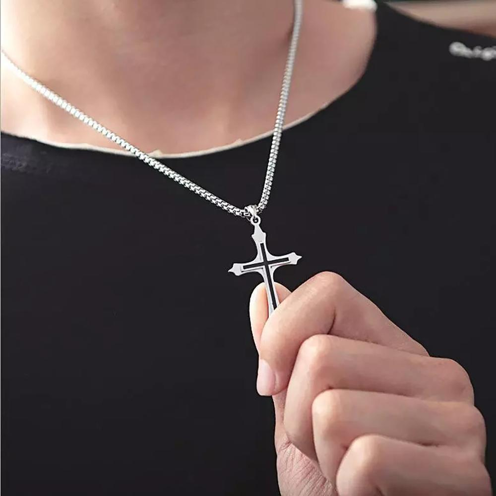 Vintage Cross Necklace for Men