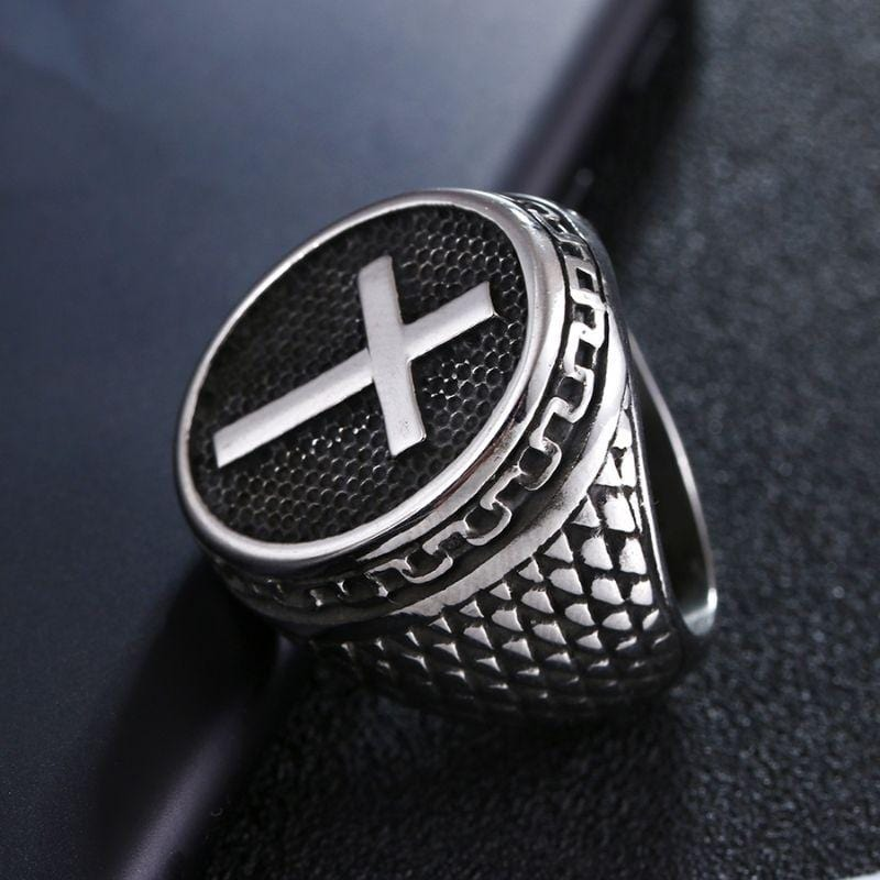 signet cross ring for men¨