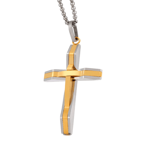 Modern Gold Cross Necklace For Men