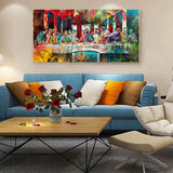 multicolor-last-supper-canvas-painting