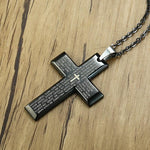 Lord's Prayer Necklace with Cross