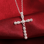 Women's Cross Necklace with Diamonds