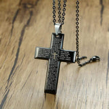 The Lord's Prayer Necklace with Cross