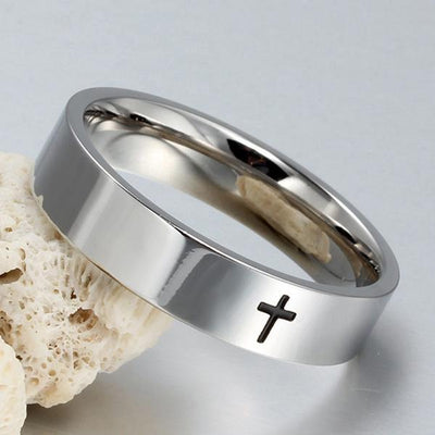 Christian Stainless steel cross ring