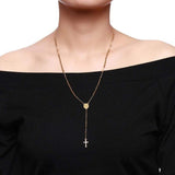 Women's Rosary Cross Necklace