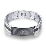 Men's Lord's Prayer Bracelet silver
