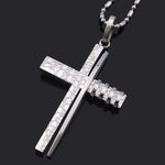 Fashion Cross Necklace silver