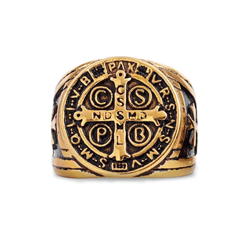 st-benedict-signet-ring-golden
