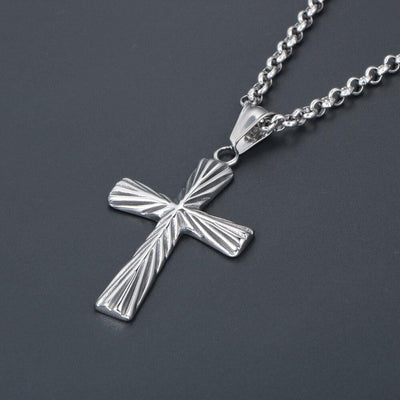 stripes-pendant-mens-cross-necklace-stainless-steel