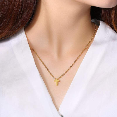 Tiny Cross necklace for Women