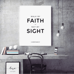 Walk By Faith Wall decor