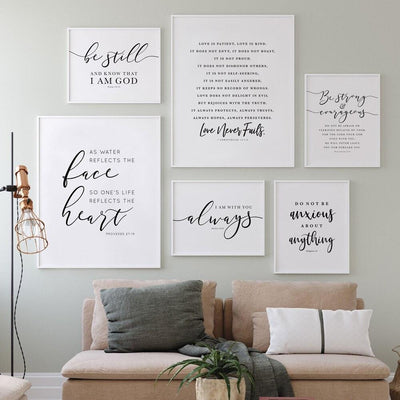 Bible Verse Wall Art<br> Proverbs 27:19