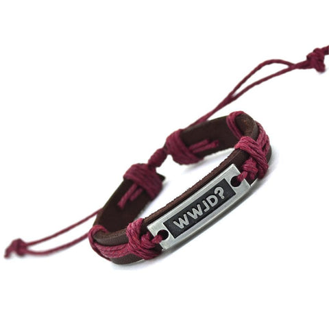 what would jesus do bracelet burgundy