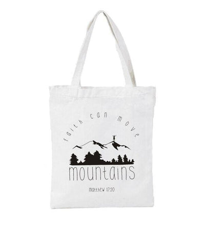 white-Faith-Can-Move-Mountains-Tote-Bag