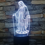 virgin mary table lamp white