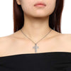 Women's Silver Cross Urn Necklace