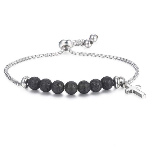 women's cross bead bracelet