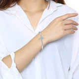 Womens Diamond Cross Bracelet