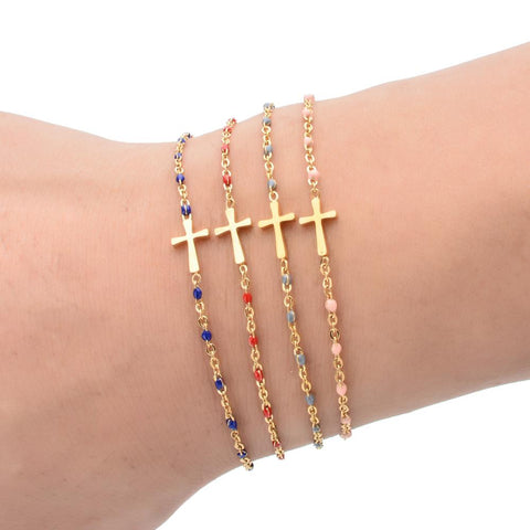 Cross Bracelet for Womens