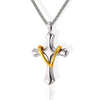 women's heart cross necklace