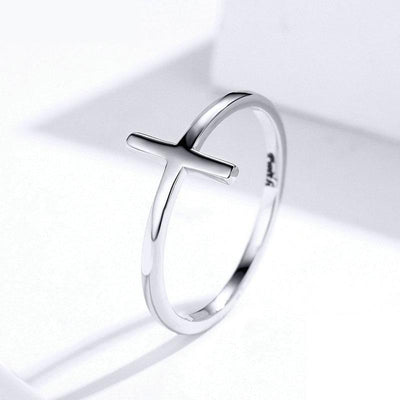 sterling silver cross ring for women