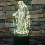 virgin mary table lamp yellow