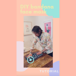 DIY Bandana Mask Tutorial