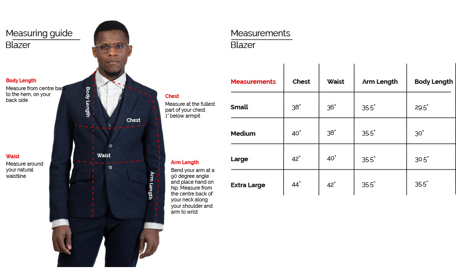 Blazer Fit Guide 18 Waits