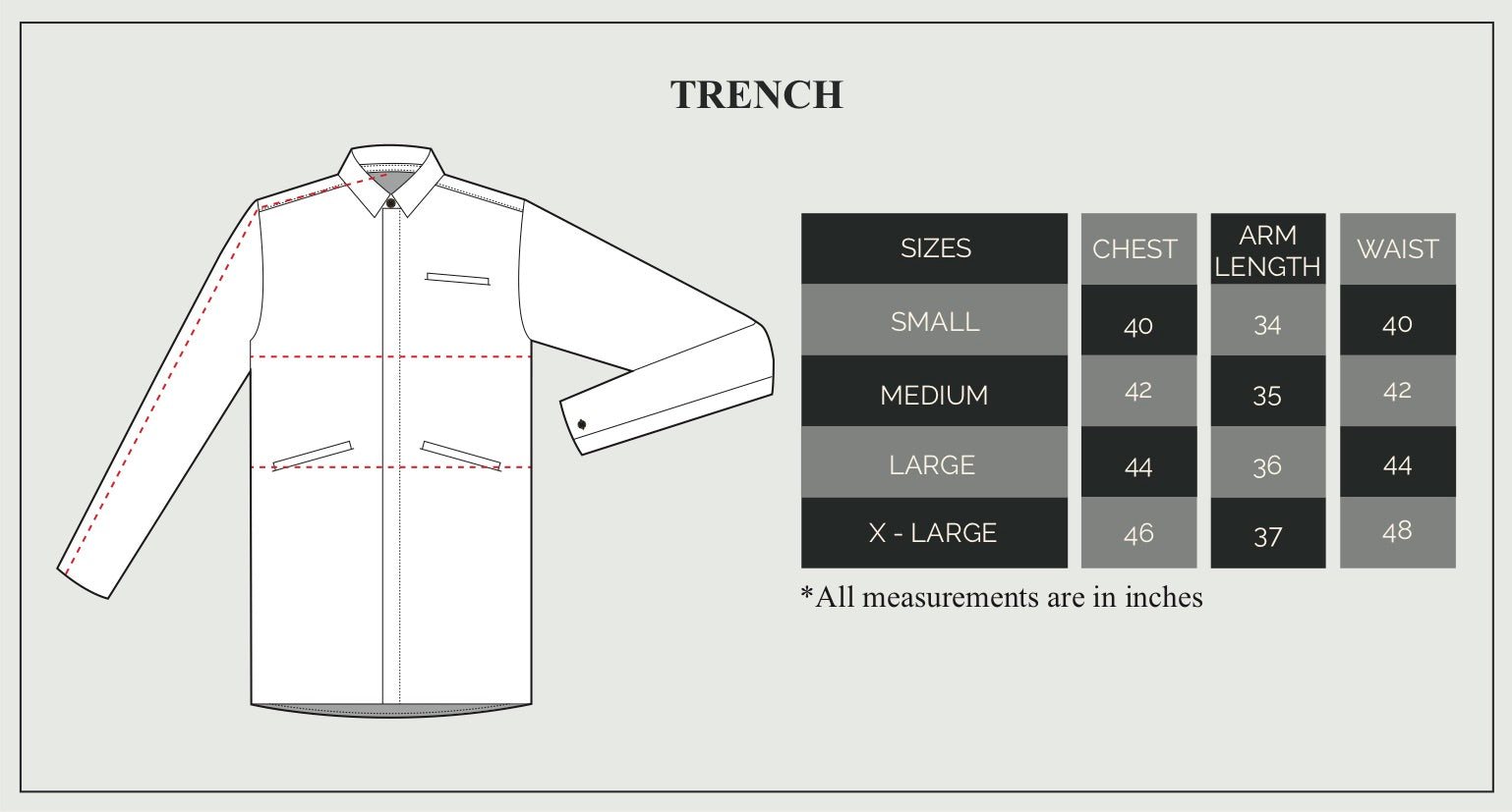 Trench Size Guide