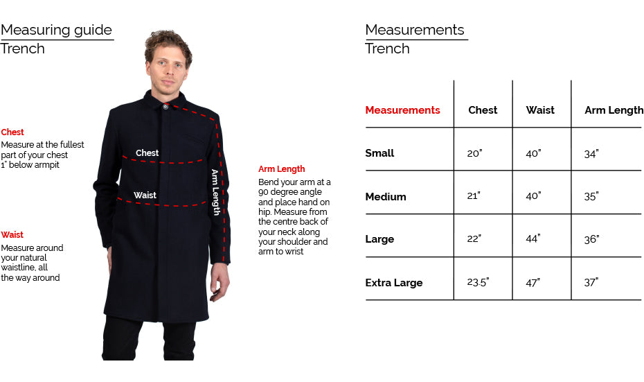 18 Waits Trench Coat Fit Guide