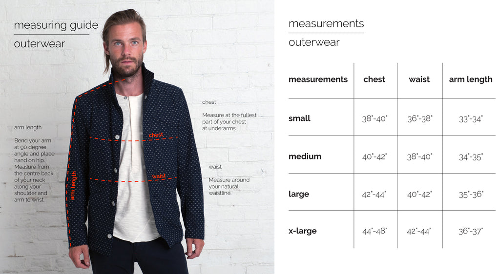 Fit Guide - Outerwear