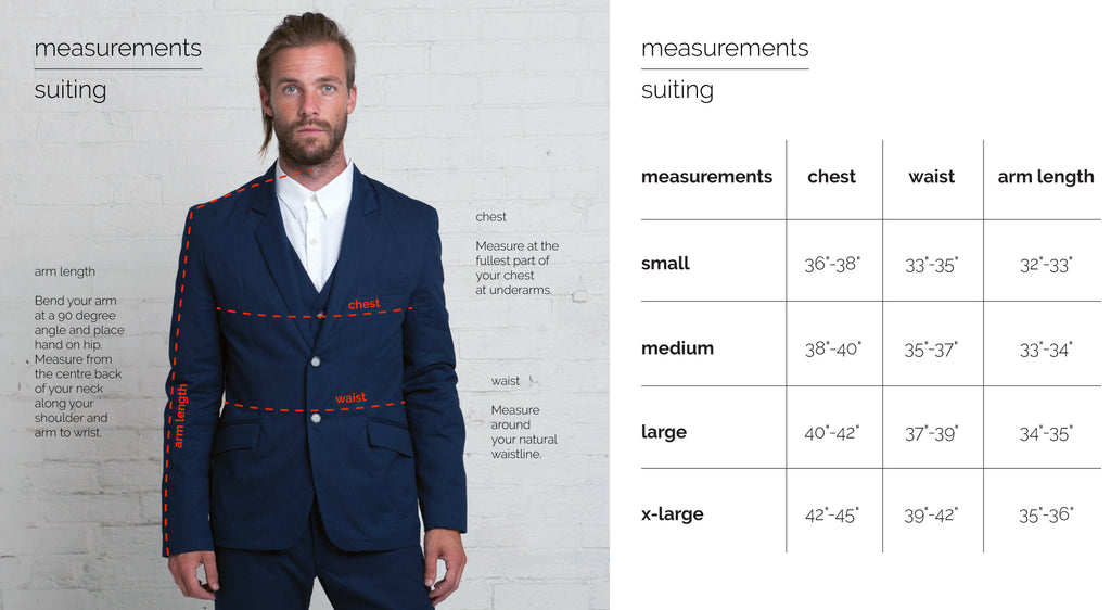 Fit Guide - Suiting