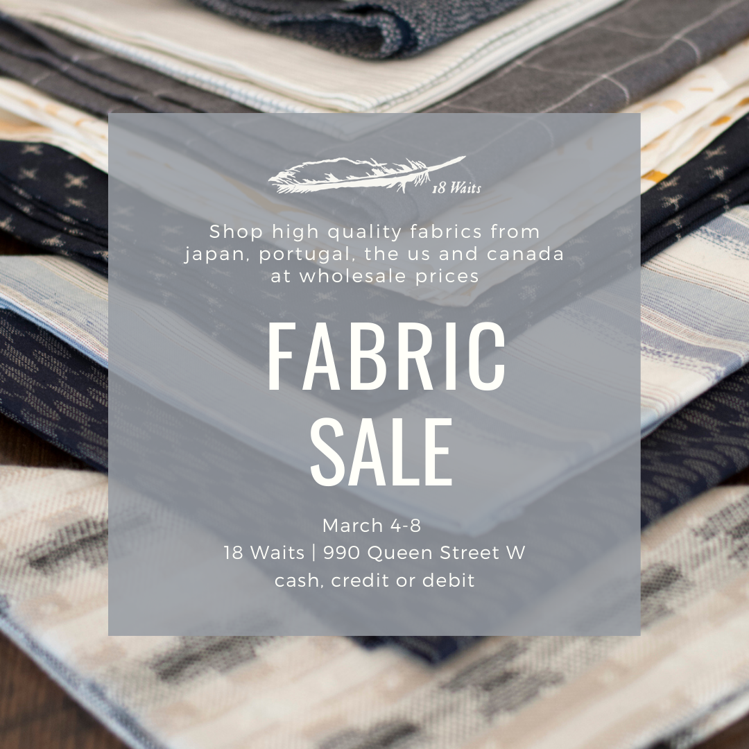18 Waits Fabric Sale Poster