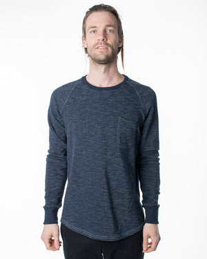 Raglan Pocket Tee | Navy French Terry