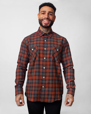 Woodsman Shirt | Red & Grey Plaid