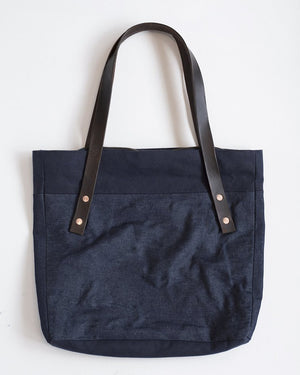 Park Bag | Indigo Denim and Waxed Cotton
