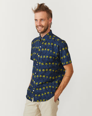 Short Sleeve Dylan | Navy Palms