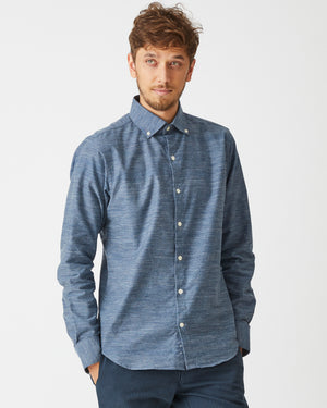Windsor Shirt | Light Slub Denim